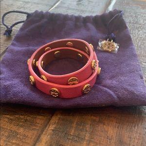 Tory Burch Pink Double Wrap Bracelet